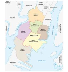 ward map jersey city new jersey usa vector image