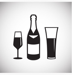 wedding beverage icon on white background for vector image