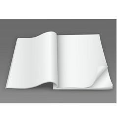 white blank open magazine on a dark background vector image
