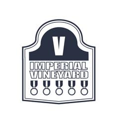 wine emblem design vector image
