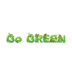 word go green with capital vector image