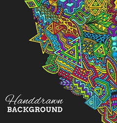 colored hand drawn background vector image vector image