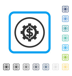 financial options framed icon vector image vector image