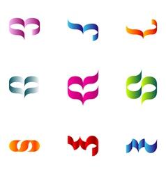 logo design elements set 65 vector image