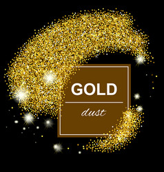 trendy shiny gold geometric background vector image vector image