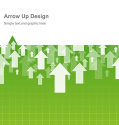 Design arrow up vector image