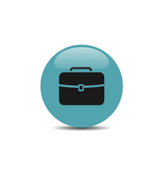 briefcase icon on blue bubble and white background vector image vector image