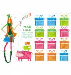 Calendar girl vector image vector image