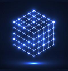Cube of lines and dots molecular lattice vector