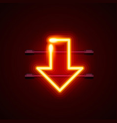 heon sign arrow bottom signboard vector image vector image