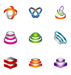 logo design elements set 66 vector image