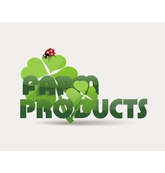 Natural Organic food concept icon vector image vector image