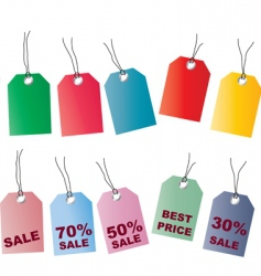 price tags2 vector image vector image