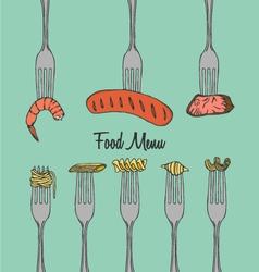 Restaurant Menu Element on Fork vector image vector image