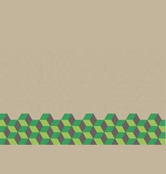 retro geometric cubeshexagon abstract background vector image