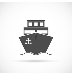 Ship icon isolated vector image vector image