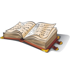 ancient opened book vector image vector image