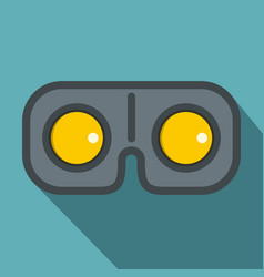 game glasses icon flat style vector image vector image