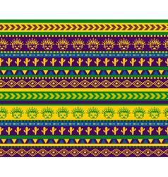 green warrior pattern vector image vector image