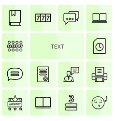 14 text icons vector