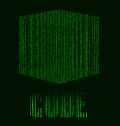 abstract futuristic green background with cube in vector image