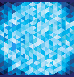 abstract geometric blue triangle with copy space vector image