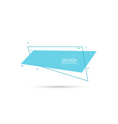 Abstract rectangular banner with lines vector