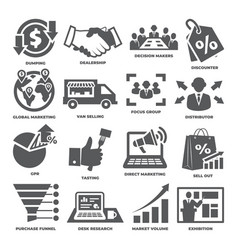 Advertising and marketing icons vector