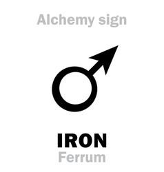alchemy iron ferrum vector image