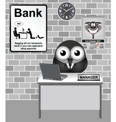 Bank Manager vector