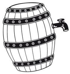 Barrel with beer vector
