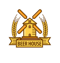 Beer icon for beerhouse brewery bar pub or product vector