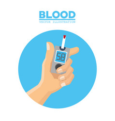 Blood hand diabetes test vector