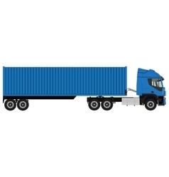 Blue cargo truck vector image