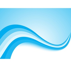 Blue light wave background vector image