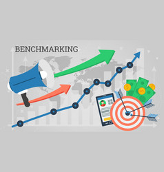 business banner - benchmarking concept vector image