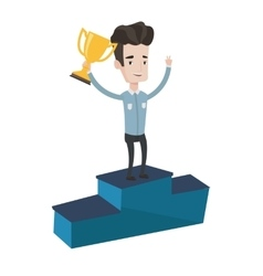 Businessman proud of his business award vector image