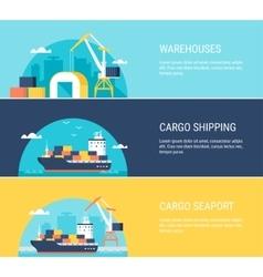 Cargo Shipping Banners vector