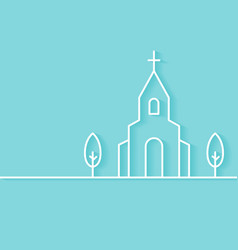 Christian Church Building Background vector
