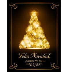 Christmas card tarjeta navidena vector image
