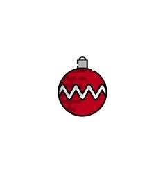 Christmas flat icon vector image