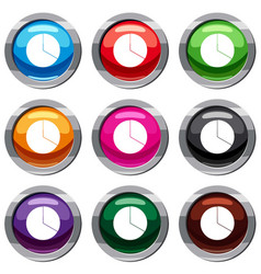 circle chart infographic set 9 collection vector image
