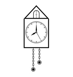 clock retro pendulum clock outline drawing vector image