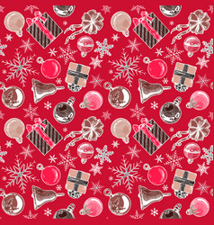 color christmas background seamless tiling vector image