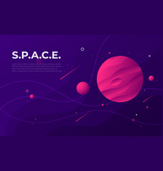 Colorful outer space abstract background design vector
