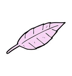 Comic cartoon feather vector