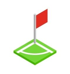 Corner of a soccer field isometric 3d icon vector image