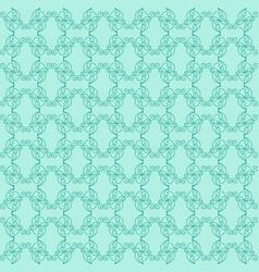 Decorative green pattern vector