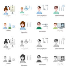 Design hospital and healthcare sign set vector