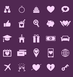 family color icons on purple background vector image